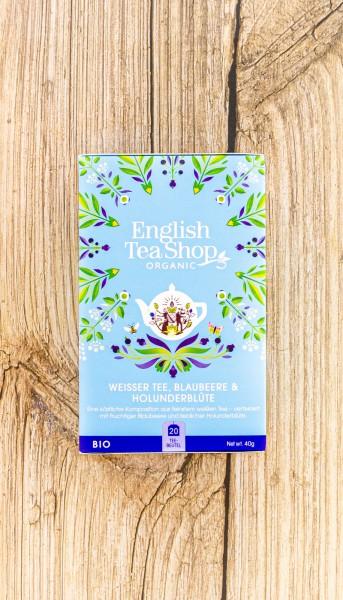 BIO Tee Weiß Heidelbeer Holunder