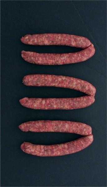 Französische Bratwurst Chipolata mit Kräuter (6 Stück)