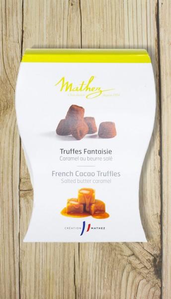 Schokoladentrüffel Truffes Fantaisie mit gesalzenem Karamell
