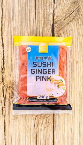 Ingwer Sushi rosa eingelegt