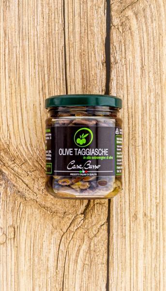 Taggiasche Oliven in Öl