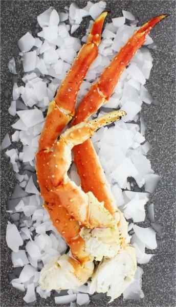 King Crab Beine und Scheren von der Königskrabbe gekocht