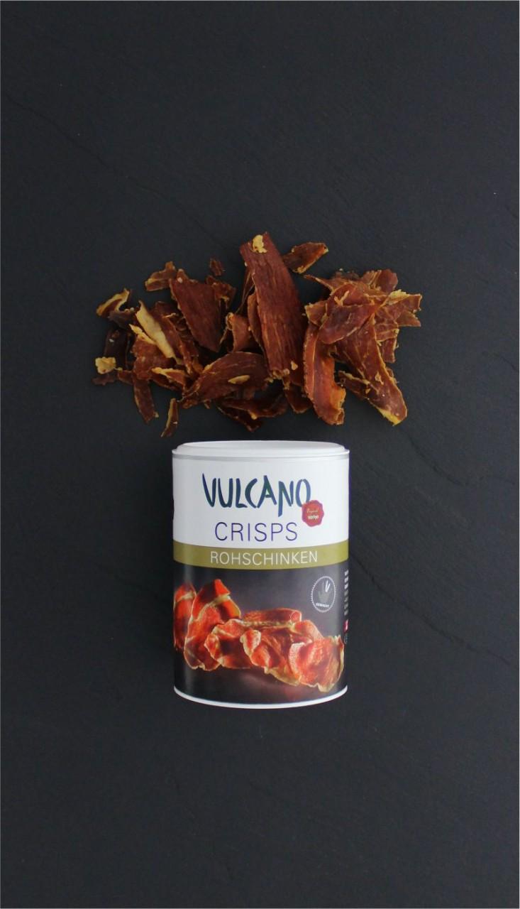 Schinken Crisps Chips luftgetrocknet - Vulcano, 35 g