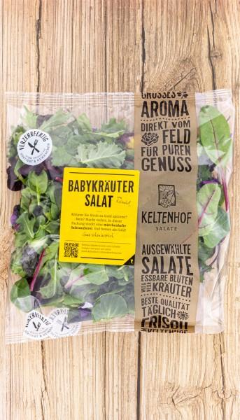 Baby Kräuter Salat mit Blüten