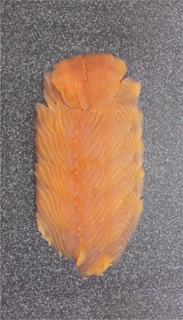 Schottischer Räucherlachs geschnitten