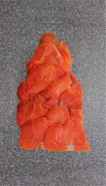 Alaska Sockeye Wildräucherlachs geschnitten