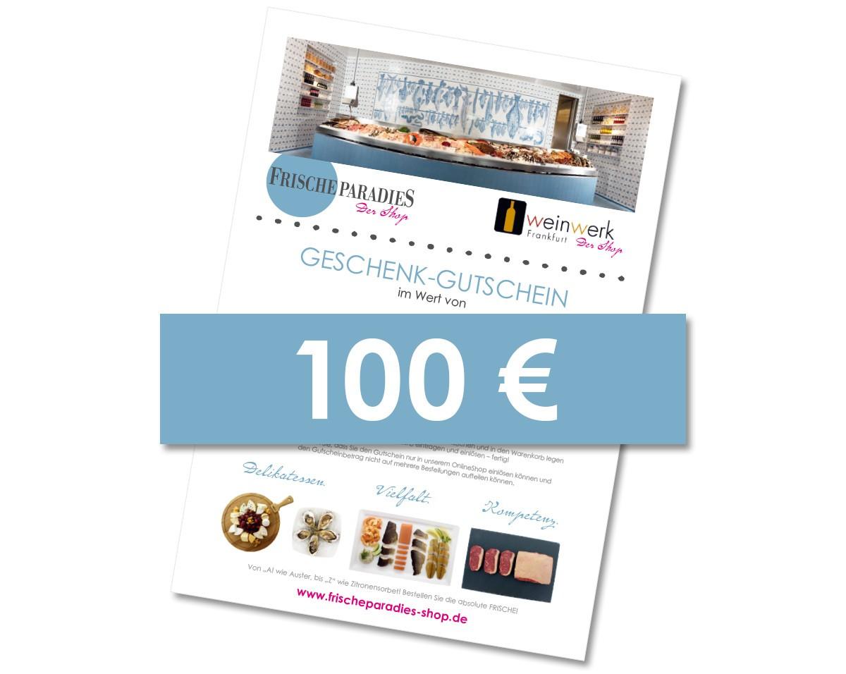 Gutscheinkarte 100,00 € für den Onlineshop