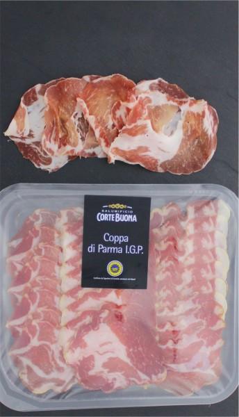 Coppa di Parma I.G.P. geschnitten
