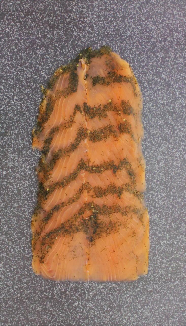 Graved Lachs geschnitten