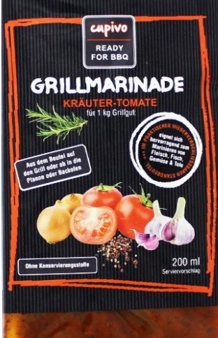 Grillmarinade Kräuter-Tomate