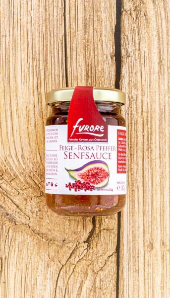 Senf Sauce Feige rosa Pfeffer