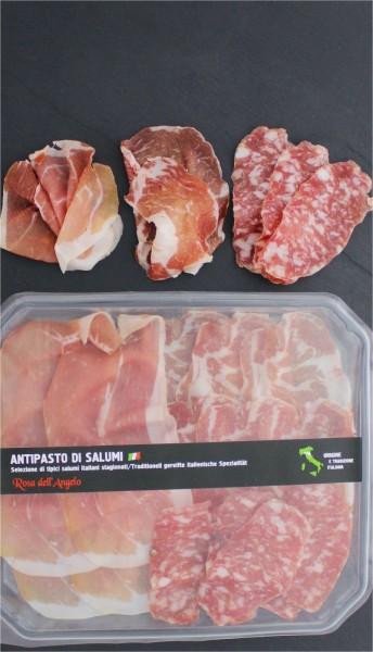 Antipasti gemischter Schinken und Salami Teller