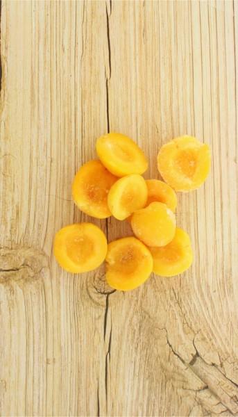 Aprikosen halbiert tiefgekühlt