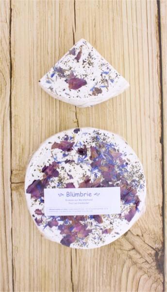 BIO Blümerie Brie mit essbaren Blumen