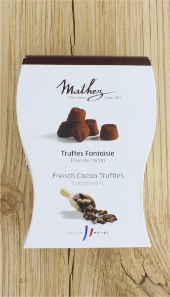 Schokoladentrüffel Truffes Fantaisie mit Kakaobohnensplitter