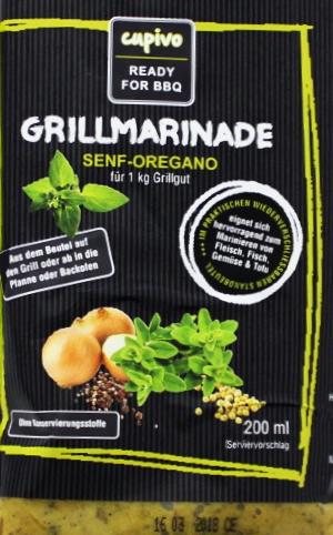 Grillmarinade Senf Oregano