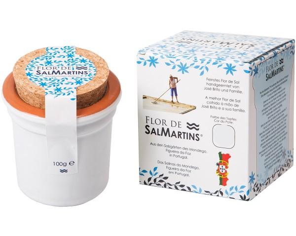 SalMartins® Fleur de Sel - Meersalz im Terracotta-Töpfchen