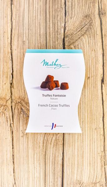 Schokoladentrüffel Truffes Fantaisie natur